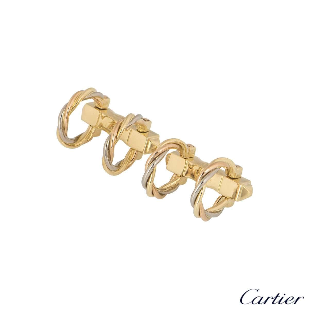 Cartier 18k Tri-Colour Gold Trinity Cufflinks